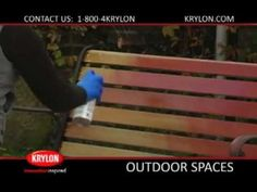 Krylon Spray Paint How To: Old Wood and Metal Bench #Krylon #HowTo