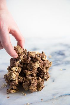Healthier Puppy Chow (or Muddy Buddies)! No powdered sugar needed! Only 4 ingredients!!!
