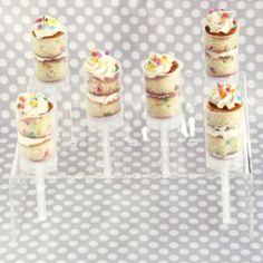 Fun idea to serve cake.