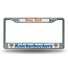 New York Knicks NBA Chrome License Plate Frame