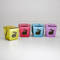 Metallic Die-Cut Bunny Takeout Boxes at Cost Plus World Market >>  #WorldMarket Easter Style Hunt Sweepstakes. Enter to win a 1K World Market gift card.
