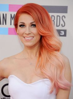 Bonnie McKee's light yet vibrant copper color works especially well on her pale skin, and blue-gray eyes.