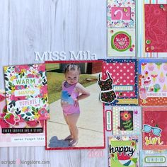 Adorable scrapbook layout by Sara (@sara.scraps) using our gorgeous August 2020 Kit ✂💯✂  ScrapbookingStore.com provides themed monthly kits, so you can hoard all those beautiful papers for your future crafts and layouts!💝  ⁣⁣⁣#scrapbookingstore #summerfun #scrapbooklayout #scrapbookingkits #papercraft #scrapbooking #cardmaking