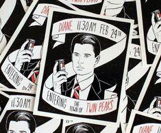 Twin Peaks Agent Dale Cooper Sticker by JLeonardArt on Etsy