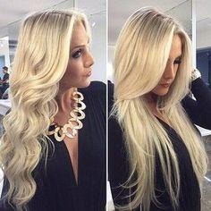 Human Real Natural Striped Hair
