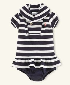 Ralph Lauren Baby Dress, Baby Girls Lightweight Shawl-Collar Dress - Kids Ralph Lauren Childrenswear - Macy's