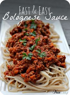 Are you looking for a FAST and EASY Bolognese Sauce? It is such a classic Italian comfort food, and this recipe makes it SO simple.