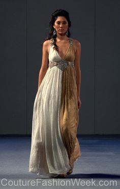 1. Resembles a Chiton.  Charisma by Ritu Boorgu Couture Fashion Week New York ,Spring Collection 2013