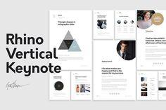 Rhino Vertical Keynote Template by GoaShape on @creativemarket