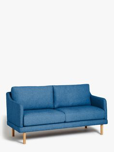 Buy House by John Lewis Sweep Small 2 Seater Sofa, Light Leg, Saga Ocean from our Sofas & Sofa Beds range at John Lewis & Partners.