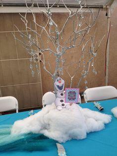 Frozen theme party centerpiece