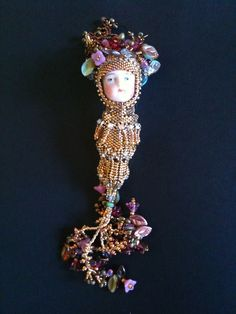 24kt gold perfume holder pendant made by Darcy Rosner of Sweet Bananaberry