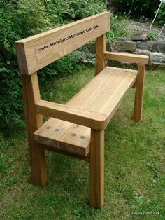Our Rustic Oak Garden Benches Are All Handmade To Order Bespoke Custom Made In The UK