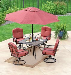 Dining outdoors be es even more attractive with this 7 piece set