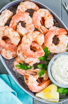 Beer Poached Shrimp Cocktail with Remoulade
