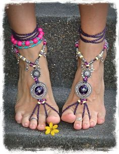 Beach Wedding Shoe Hemp Sandals Bohemian Barefoot Sandals http://www.justtrendygirls.com/bohemian-barefoot-sandals/