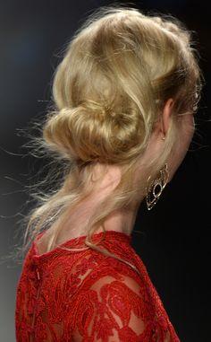 Tadashi Shoji from New York Fashion Week Beauty Looks: Fall 2014 Hair & Makeup | E! Online