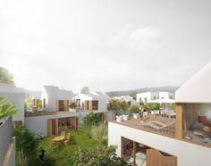 Il s'agit d'habiter au grand air, une maison dans un village et simultanément de profiter de la dynamique économique et urbaine toute proche de la ville nouvelle…