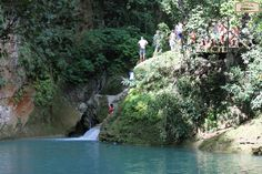This is Touring in Haïti with @bellevuetours  Bassin Bleu, Jacmel...