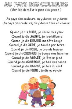 Converteert: leer in lied! Comptinettes: het leren van in lied! French Poems, Core French, French Classroom, French Resources, French Immersion, French Lessons, Chant, Teaching French, Learning Colors