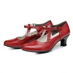 [USD $ 49.99] Women's Leather Upper Ballroom / Modern Arch Strip Dance Shoes Dance