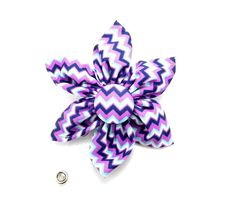 Hey, I found this really awesome Etsy listing at https://www.etsy.com/listing/254866134/flower-badge-reel-purple-chevron-flower