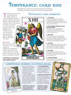 Temperance card * Arielle Gabriel who gives free travel advice at The China Adventures of Arielle Gabriel writes of mystical experiences during her financial disasters in The Goddess of Mercy & The Dept of Miracles including the opening of her heart chakra *