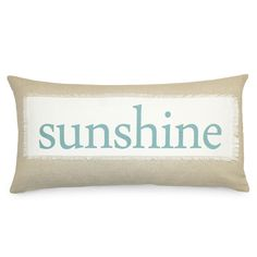 14x26 Sunshine Down Pillow in Blue