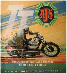 Vintage Brochures: Ajs IOM TT 1950