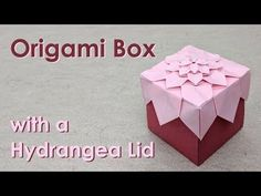 Mother's Day Origami Tutorial: Hydrangea Box (Shuzo Fujimoto) Kirigami, Origami Star Box, Origami Ball, Origami Stars, Origami Box With Lid, Origami Paper Folding, Modular Origami, Paper Folding Crafts, Origami Box Tutorial