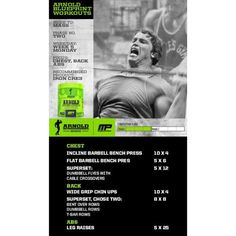 workout of the day arnold blueprint to mass chestbackabs powered by tag someone who wants to look like arnold schwarzenegger
