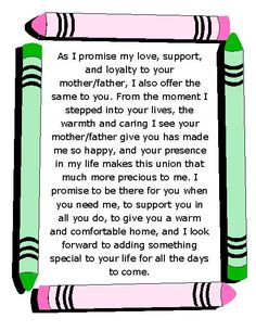 blended family wedding vows best photos - Page 10 of 12 - Cute Wedding Ideas Wedding Vows For Him, Best Wedding Vows, Wedding Quotes, Wedding Stuff, Dream Wedding, Wedding Tips, Luxury Wedding, Wedding Anniversary, Diy Wedding