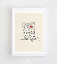 I Love Uuuuuuuuu - Art Print. $30,00, via Etsy.