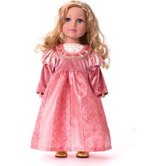Little Adventures Doll Dress Coral Renaissance