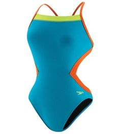 Speedo Flipturns Solid Colorblock 1 PC #swimoutlet