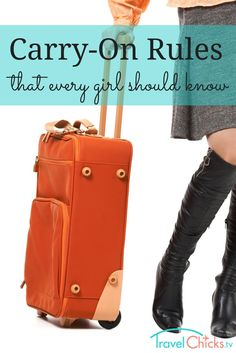 Carry on rules for the airport - bag sizes and liquid items