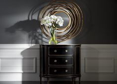 Spiral Twig Mirror. This dramatic, wreathlike work of art is deeply dimensional and constructed from metal, with an aged gold finish. In an entryway or over a console, this piece pops. Shop at the Ethan Allen of Orland Park, IL. design center