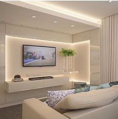 Elegant living room decor Lighting Ideas Living Room Breastfeeding Your Child Article Body: Breastfe House Ceiling Design, Ceiling Design Living Room, Wardrobe Design Bedroom, Bedroom Bed Design, Led Living Room Lights, Home Living Room, Living Room Decor, Drawing Room Furniture, Living Room Tv Unit Designs