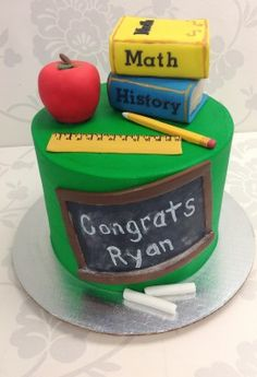 Teacher cake.  For when I graduate.  Or for an awesome teacher.