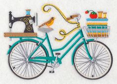 Crazy for Crafting Bicycle design (M5774) from www.Emblibrary.com
