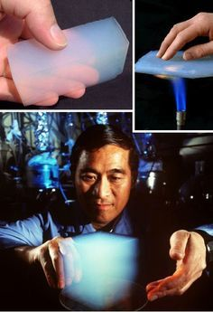 Incredibly, aerogel is as strong as steel, and virtually as light as air.
