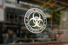 Zombie outbreak response team Car Decal die-cut !!! FREE text decal with order by DecalzNmore on Etsy