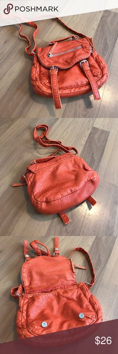 GAL convertible crossbody bag NWOT! Burnt orange. Carry two ways - by handle or cross body. Soft, smooth material. GAL Bags Crossbody Bags