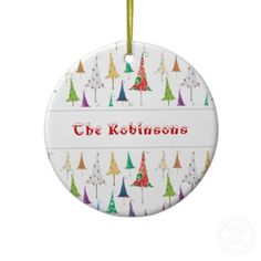 Whimsy Christmas Trees Ornament