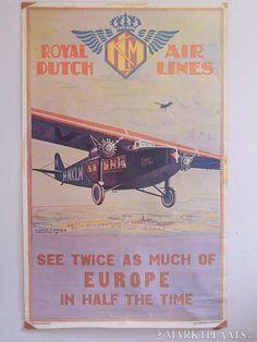 vintage poster KLM Royal Dutch