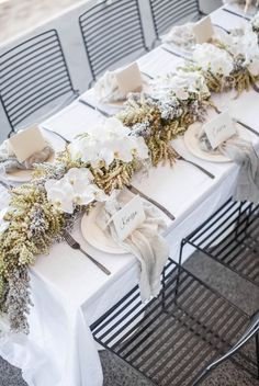 VENUE / The Avalon on The Beach / Sydney Beachside / Oceanic Table Styling / Floral Table Runner / Wedding Style Inspiration / The LANE