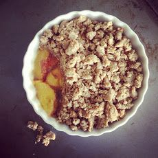 Almond Butter Peach Cobbler for Two