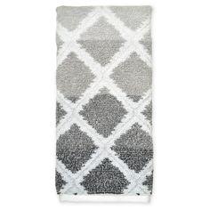 Ikat Diamond Hand Towel - Gray
