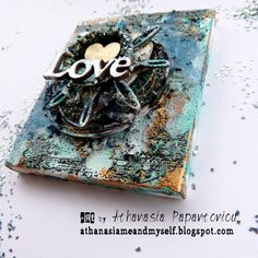 Me and myself...: Tiny canvas 'LOVE'