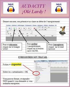 Vous pouvez télécharger le logiciel AUDACITY (libre de droit) : ICI  - Fiche AUDACITY Olé Lardy.pdf